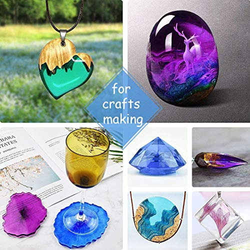 Smooth Glossy Pink Purple and Teal resin art sphere necklace
