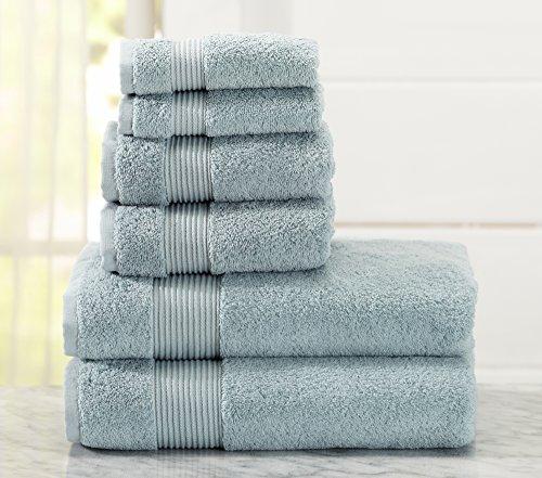 Great Bay Home 6 Piece Bath Towel Set. Includes Bath Towels,
