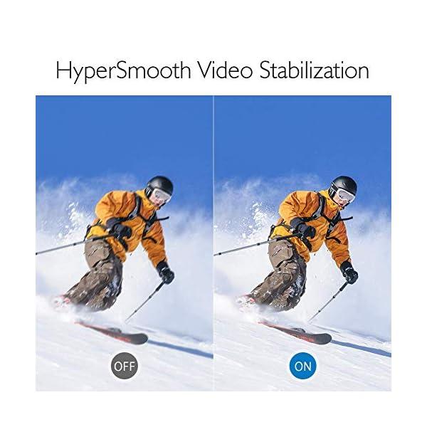 AKASO Caméra Sport 4K WiFi 20MP Télécommande Commande Vocale Ecran LCD Stabilisateur Caméra Sportive Etanche sous Marine…
