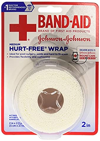 Band-Aid Brand Of First Aid Products Hurt-Free Wrap, 2Inches By 2.3 Yards - First Aid Dressing Medicine