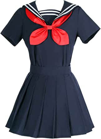ROLECOS Himiko Toga Cosplay Costume My Hero Academia Sweater Sailor Dress Oufit