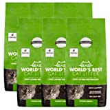 World's Best Cat Litter 28 lbs Easy Scooping, Odor Control Clumping Formula, 6 Pack