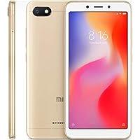 "Xiaomi Redmi 6A Smartphones 5.45"" Pantalla Full HD 2GB RAM + 16GB ROM Procesador Quad-Core de 12 NM, 5MP Delantero y 13MP cámara Trasera, Doble Ranura para Tarjeta SIM + MicroSD (Dorado)"