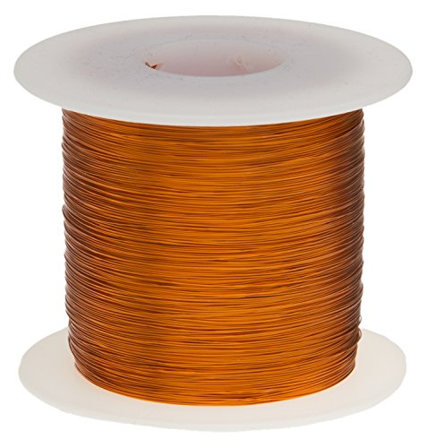 Remington Industries 22H200P.5 Magnet Wire, Enameled Copper Wire, 22 AWG, 8 oz, 250' Length, 0.0273'' Diameter, 200°C, Natural
