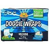 Disposable Dog Male Wraps | 20 Premium Quality Adjustable Pet Diapers...