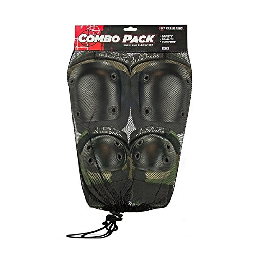 187 Camo Small / Medium Knee, Elbow & Wrist Combo Skate Pads