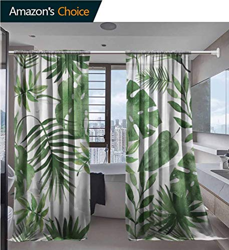 vanfanhome Multicolor Sheer Curtains for Living Room, Seamless Pattern Printing, Voile Window Curtains Bedroom Rod Pocket 2 Panels, 54 x 63 Inch/Panel (Chambray Voile Rod Pocket)