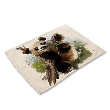 Nobleplacemat Einfacher Stil Tischsets Susse Gemalte Panda Print
