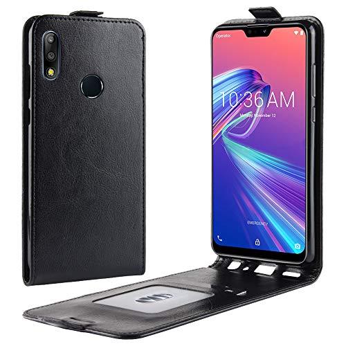 Asus Zenfone Max Pro (M2) ZB631KL - Carry Case Flap Wallet Style Flip Cover Case for Asus Zenfone Max Pro (M2) ZB631KL ONLY (Asus Zenfone Max Pro (M2) ZB631KL Cover Black)