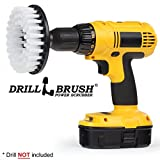Drillbrush Softer Bristle Scrub Brush 5' Round with Power Drill Attachment