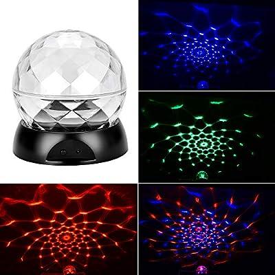 Fesjoy Rotación de Lámpara de Proyector de Luz de Noche de Colores ...