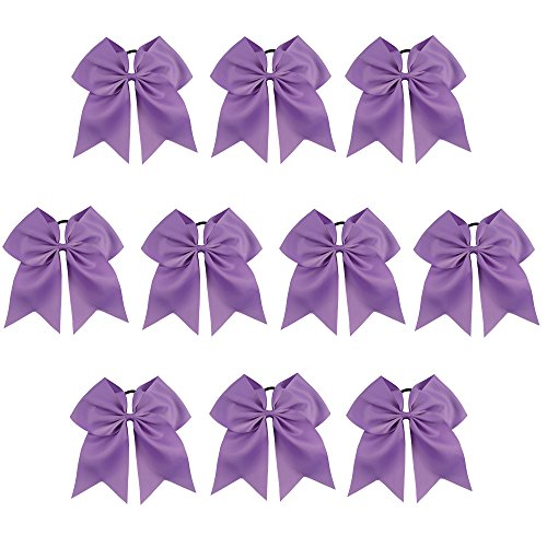 CN Girls Cheerleading Bow with Ponytail Holder for