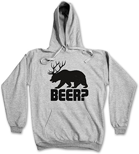 Beer  Hoodie   Deer Bear Hunt Antlers Hunter Alcohol Drinking Sport Barstool