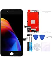 for iPhone 8 Screen Replacement Black 4.7 inch,3D Touch LCD Display & Touch Screen Digitizer Frame Assembly Set with Repair Tool Kit + Free Screen Protector
