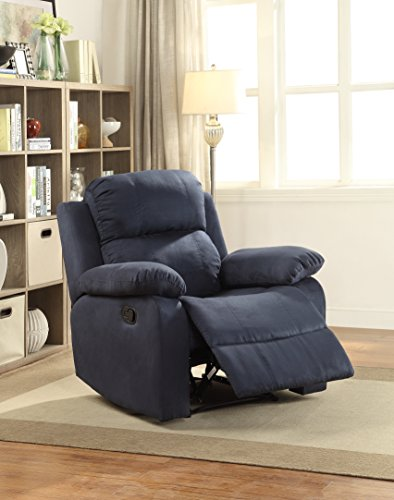 ComfortScape Reclining Microfiber Loveseat Sofa Chair, Blue