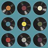 Bierdeckel Schallplatte Rock n Roll Vinyl aus Pappe Untersetzer im 48er Set