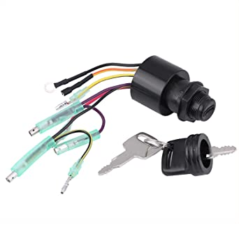 Mercury Ignition Key Switch 6 Wire Replaces 87-17009A5 Outboard Sierra MP41070-2