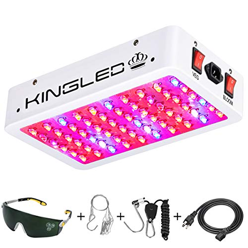 Light Gro System - King Plus 600W LED Grow Light Full Spectrum for Indoor Plants Veg and Flower(Dual-Chip 10W LEDs 60Pcs)