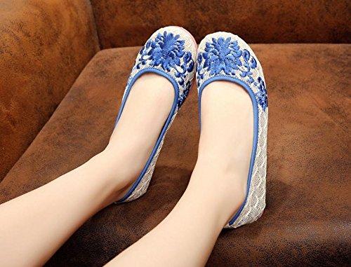 DESY Gestickte Schuhe, Leinen, Sehnensohle, ethnischer Stil, weibliche Schuhe, Mode, bequem Yellow