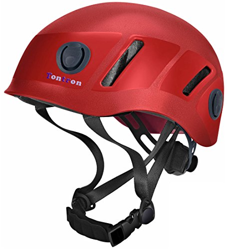 Rescue Helmet - Tontron Climbing Caving Helmet (Red, Large)