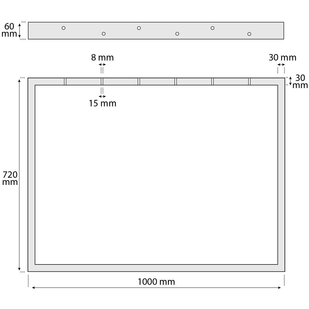 Cadre 30x43 cm HOLZBRINK 1x Pied de Table en Profil/és dAcier 60x30 mm Acier Brut HLT-01-D-AA-0000