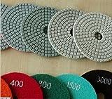 Diamond Polishing Pads 4 inch Wet/Dry 540 Pieces Set Pad 3mm Thick Granite Concrete fits DAMO Toolsmart hardin