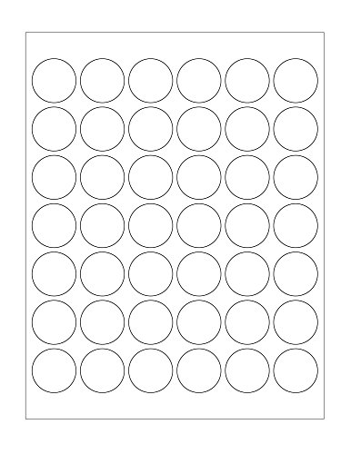 1-1 4 White Round Dot Labels for Laser Inkjet – Permanent Adhesive - Matte Stickers – 25 Sheets Per Pack