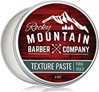 Texture Paste for Men – Canadian Made - Hair Styling Cream with Pliable Light-Firm Hold for All Hair Styles, Shine-Free Matte Finish with Natural Plant Derived Ingredients – Easy to Wash Out - 2 OZ
