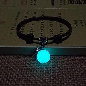 Obsidian pulseras luminosas anillo de mano un par de pulsera de ...