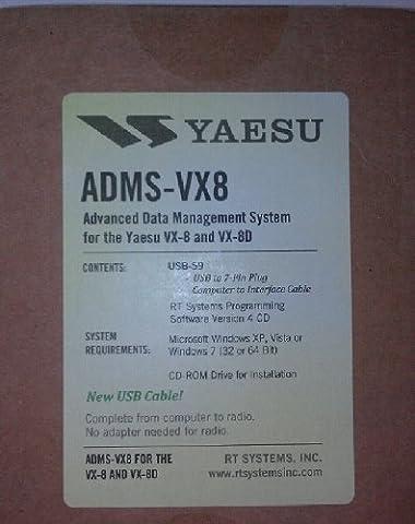 Yaesu VX-8DR Programming Software & USB Cable Set! ADMS-VX8 (Programming Software)