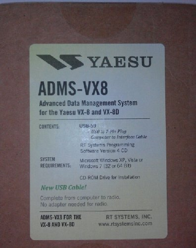 : Yaesu VX-8DR Programming Software & USB Cable Set! ADMS-VX8