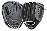 Wilson A360 Baseball Glove, Grey/Black/White, Right Hand Throw, 11-Inch