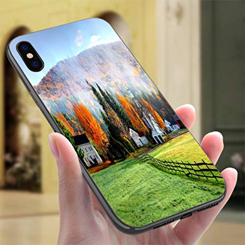 iPhone X/XS Color case Autumn Mist in The Village of Tyringham in The Berkshires Resistance to Falling, Non-Slip,Soft,Convenient Protective Case