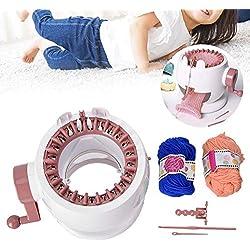 Yencoly Knitting Round Loom,DIY Hand Weaving Knitting Machine Educational Toys for Children Handmade Hat Scarves Sweater Knitting Kit for Kids Children Adults Beginners