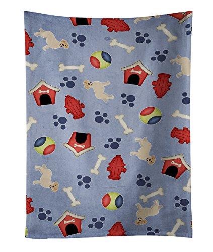 Caroline's Treasures BB4084KTWL Dog House Golden Retriever Kitchen Towel, 25