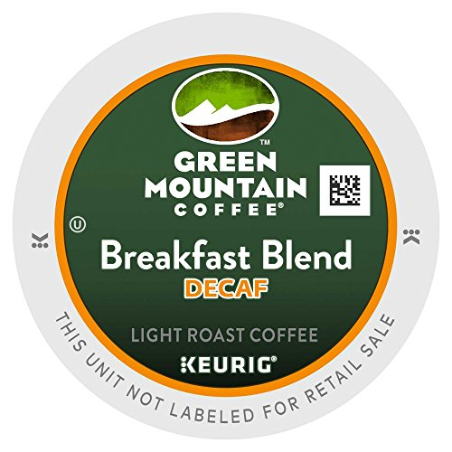 Green Mountain Coffee, K-Cup, Breakfast Blend Decaf for Keurig Brewers, 80 Count K-Cups (Green Mountain Decaf Breakfast)