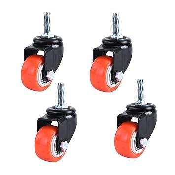 ACZZ Mini ruedas para muebles Ruedas de rosca de 1.5