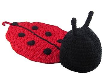 Itemer Kinder Baby Strick Mütze Crochet Häkeln Strickmütze Hut Käfer