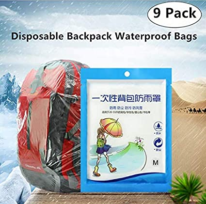 2f415e5bb4af Amazon.com   Magnoloran 9 Pack Disposable Backpack Rain Cover ...