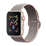 amBand Sport Loop Band Compatible with Apple Watch 38mm 40mm, Breathable Nylon Replacement Band Compatible with iWatch Series 1/2/3/4, Sport, Edition-New Pink Sand