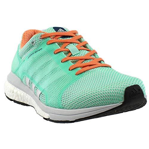 adidas Women's Adizero Tempo w Running Shoe, Easy Green/White/Clear/Grey, 9 M US