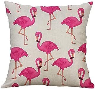 Flamingo Pattern Decorative Cushion Cover Square Throw Pillow Cover Pillow Case Home Office Sofa Waist Cushion Pillow