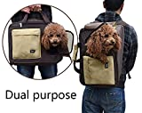 PUPTECK Dual Purpose Soft Small dog Travel Carrier BackPack Cream