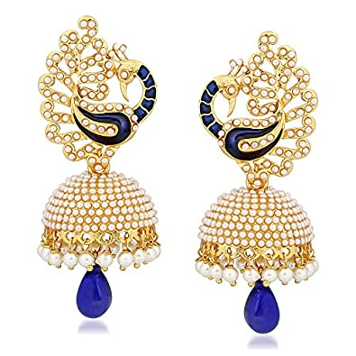 338caf93b8 Buy MEENAZ Jewellery Traditional Pearl Ear Rings Fancy Necklace Set  Jewellery Set Jhumka Jhumki Earrings for Women Girls - A-135 Online at Low  Prices in ...