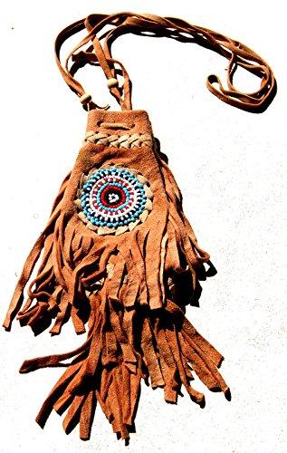 - Fair Trade Replica Native American Medicine Drawstring Beaded Bag Pouch