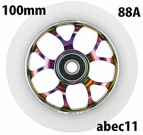Fox Pro Spoked Patinete de 100 mm rollo + Abec11 Rodamientos ...