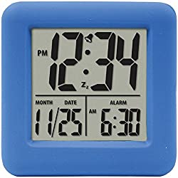 EQUITY BY LA CROSSE SOFT CUBE ALARM CLOCK BLU