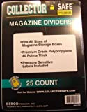 The Collector Safe Magazine Dividers (1 Pack of 25)
