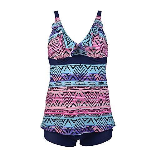 PZZ Geometry Printing Swimsuit Swimdress