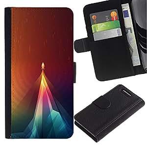 """A-type (Geometría Rocket"""") Colorida Impresión Funda Cuero Monedero Caja Bolsa Cubierta Caja Piel Card Slots Para Sony Xperia Z3 Compact / Z3 Mini (Not Z3)"""